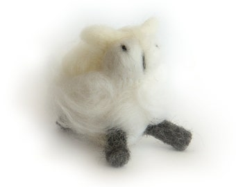 Wool Sheep // Needle Felted Miniature // Nursery Decoration