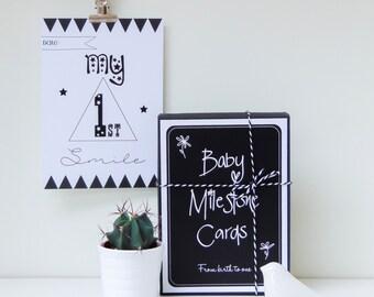 Baby Milestone Cards | Scandi Style | Monochrome | New Baby Gift