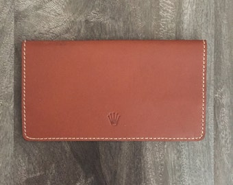 Brown Leather Rolex Card Holder