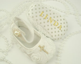Christening Shoes Personalized shoes babies Baptism baby boy baby girl Christening shoes Baptism shoes infant Baptism shoes Gift toddlers