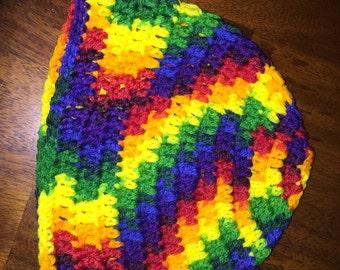 Hand crocheted beanie