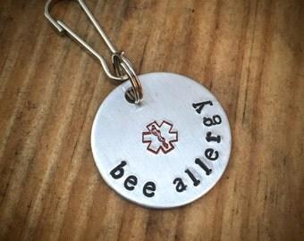 Bee Allergy Medical Alert Tag