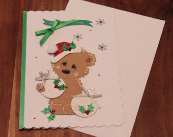 Christmas bear card
