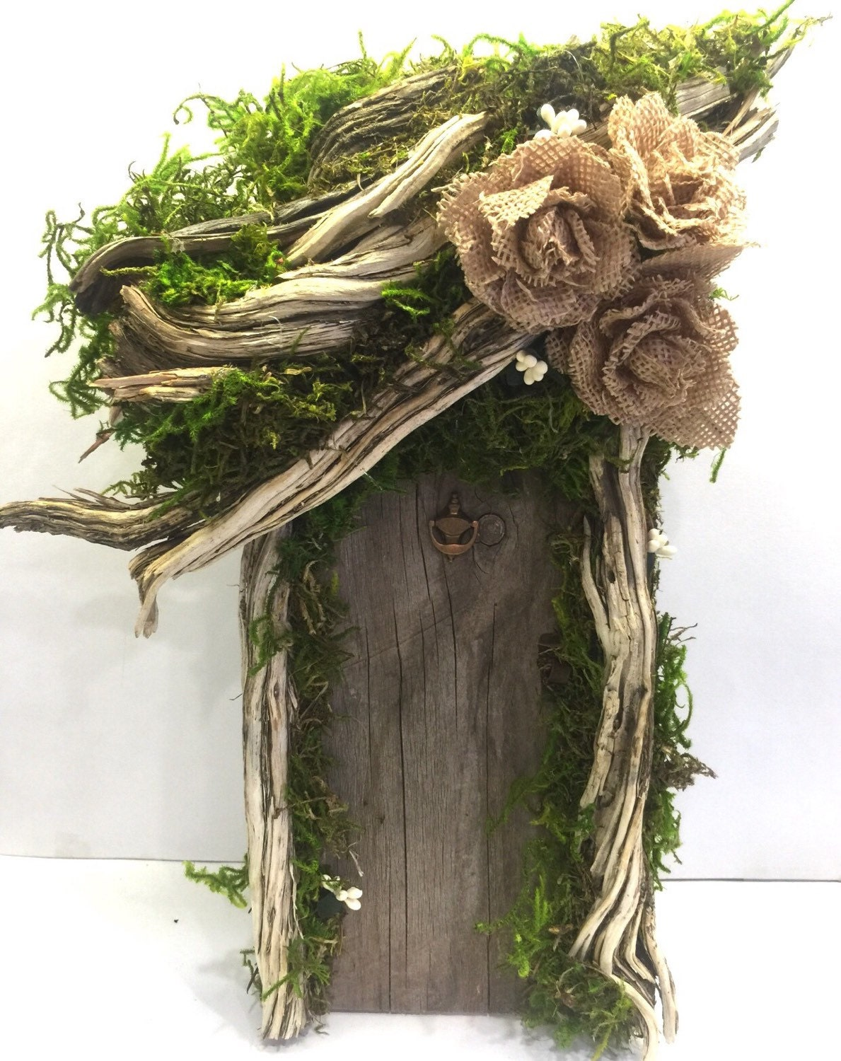 Large fairy door rustic fairy garden enchanted forest for Large gnome doors
