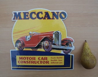 Meccano Point of Sale Card - Motor Car Constructor