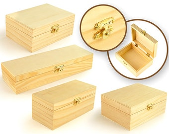 Wood Box Assortment with Clasp