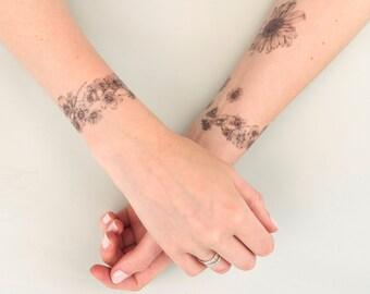 The Aviary Daisy Chain Temporary Tattoo
