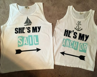 Couples ocean tank tops