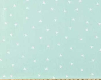 Mint and White Triangle Fabric