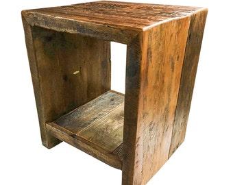 Reclaimed Barn Wood End / Side Table