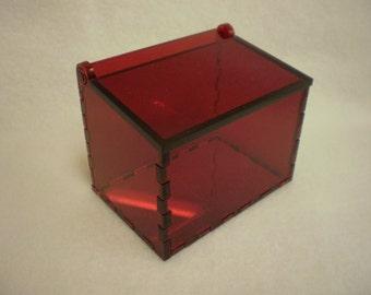 Red Laser Acrylic Trinket Box