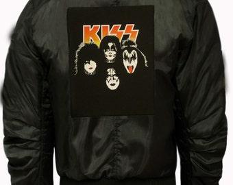 "Hall Of Fame ""kiss "" rocker bomber jacket"