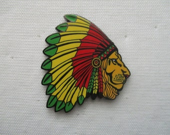 Rasta Lion Headdress Hat Pin