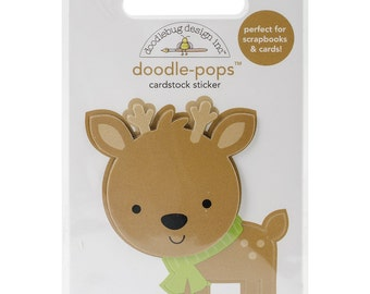 Sugarplums Doodle-Pops 3D Stickers-Dasher NM-SPDP-4759