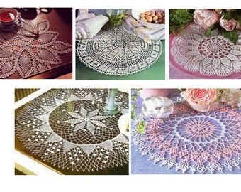 5 pcs crochet doily pattern-only diagram-in pdf-40