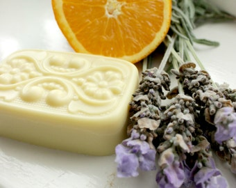 Bliss Solid Lotion Bar - Lavender, Orange, Neroli, organic, therapeutic, mood boosting, natural, spa, treatment,