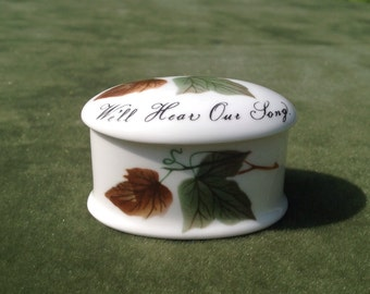 Royal Adderly bone china Trinket box