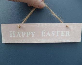 Rustic Home Sign, Wooden Sign, Home Decor, Signage, Gift,Easter quotes,Easter gift,Wall Art,Hand Painted,Shabby Chic,Chalk paint,