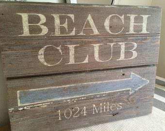 Barnwood Beach Club Sign