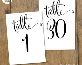 Table Numbers | Cantoni | Wedding Signage | Wedding Accessory | Table Decor | Printable