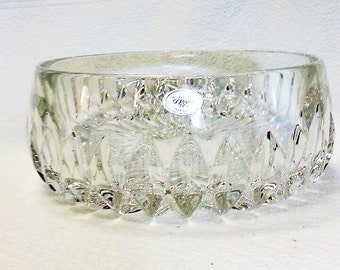 Beautiful Vintage Gorham Lead Crystal 7 1 /2 Inch Bowl Althea Pattern,  Made in Germany Exellent Condition, Gorham Crystal, Vintage Crystal