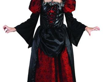 Girls Halloween Vampire costume children girls halloween outfit toddler girl Vampire costume kid girls halloween costume gothic girl dress