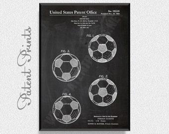 Soccer Ball 1964 Patent Print, Soccer Prints, Soccer Posters, Soccer Blueprints, Soccer Art, Soccer Wall Art, Sport Prints, Sport Posters
