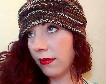 Handmade Knit Slouchy Hat - Sierra Ombre