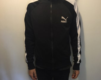 Medium Black Puma Tracksuit Top Zip-up