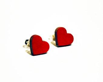 Earrings Red Hearts