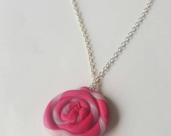Pink lollipop necklace