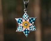 FREE shipping! Silver cloisonne enamel pendant jewelry Bublles Hot enamel blue white spring