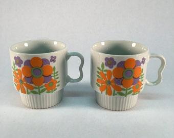 Vintage Stylecraft Japanese floral mugs