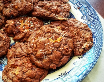 Dark Chocolate Dulce de Leche Cookies