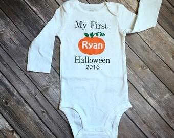 My First Halloween bodysuit, baby's first halloween bodysuit, halloween outfit, baby shower gift, baby gift, baby costume, Halloween costume