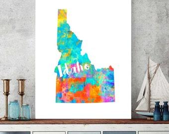 Idaho Map Print, Idaho Printable, Map Download, Idaho Decor, Printable Map, Nursery Map, Idaho Home Decor