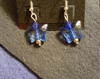 Blue Butterfly Dangle
