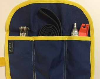 ABCSF Road Bike Tool Roll - Blue and Yellow
