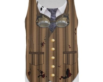 Halloween Steam Punk Engineer Costume All Over Adult Tank Top