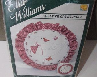 Creative Crewelwork Kit by Elsa Williams Factory Sealed Sculptured Goose Vintage Crafts