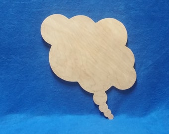 Think Bubble Wall Hanging,Think Bubble Wooden Wall Art, Wooden Wall Decor, Wall Decor, Unfinished Think Bubble Wall Decor, Wall Art