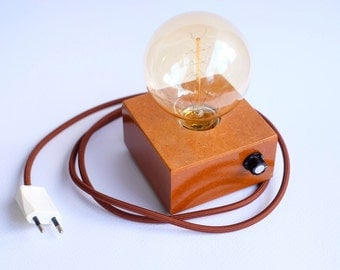 Ecco style modern design table lamp with Edison bulb and dimmer