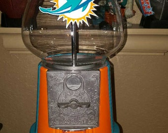 Miami Dolphins, gum ball machine, machine, miami dolphins gumball machine, gum ball machine,