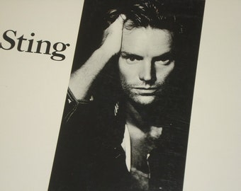 Sting record album, Sting Nothing Like The Sun vintage vinyl record