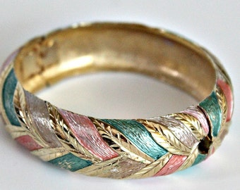Vintage Tri-Color Metal Bangle