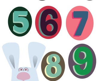Numbers a4 print