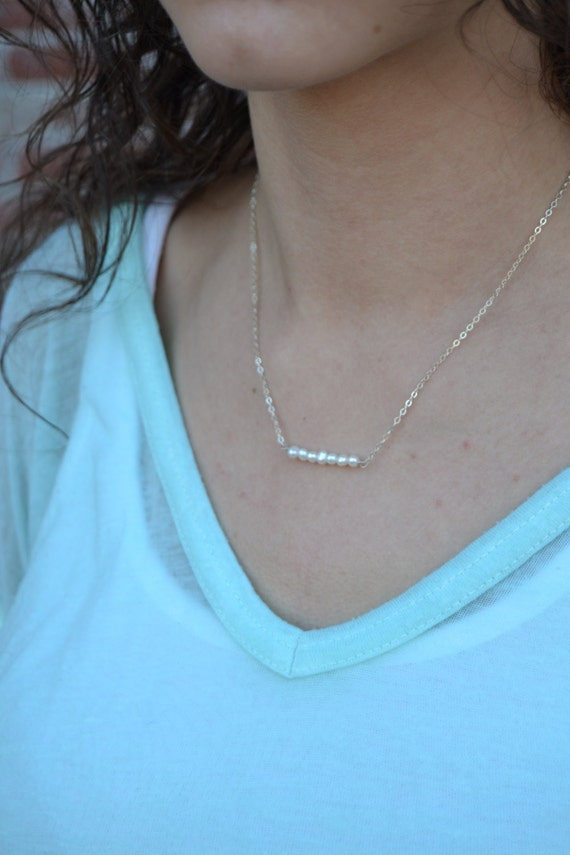Perfect Pearl Dainty Layering Necklace - Available in 14k Gold Filled or Sterling Silver