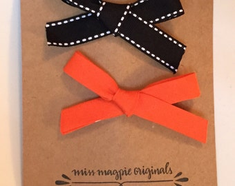 Ribbon Bow Clips