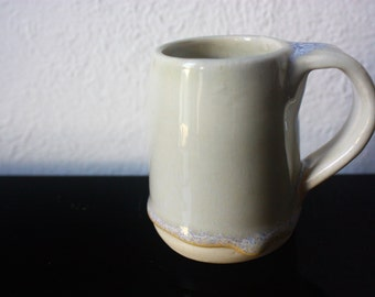 Adorable tiny white ceramic mug - beautiful handmade pottery