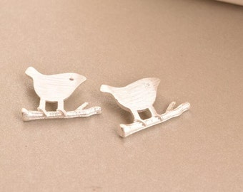 2 ps bird charms pendants charm pendant in sterling silver, LH1